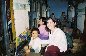 With Tibetan Child