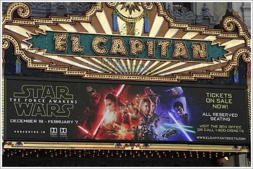 The-marquee-of-the-el-capitain-theatre-promotes-the-soon-to-be-released-star-wars-the-force-awakens-november-12-2015-in-hollywood-california-star-wars-the-force-awakens-is-scheduled-to-premiere-in-los-angeles-
